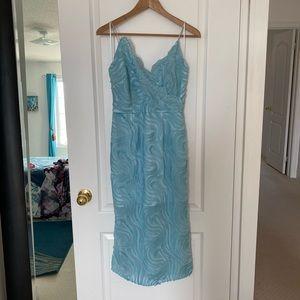 **NEW BLUE LACE DRESS**
